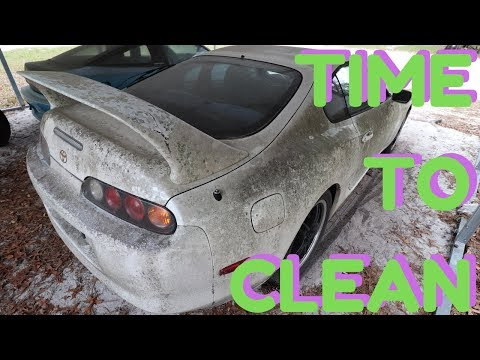 Cleaning The Dirtiest Supra Ever!!?? | Mk4 Barn Find Toyota Supra