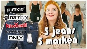 ich teste LIVE 5 Jeans Hosen von 5 Marken in Größe 40 EURE FAVORITEN - Size Inbetweenie
