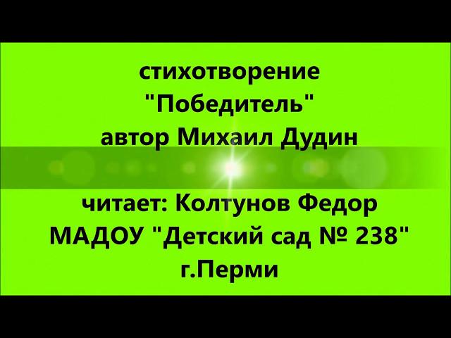 Изображение предпросмотра прочтения – ЕленаКолтунова читает произведение «Победитель» (Дудин Михаил)