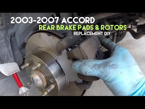 How to Replace Accord Rear Brake Rotors & Pads - Removal & Replacement DIY