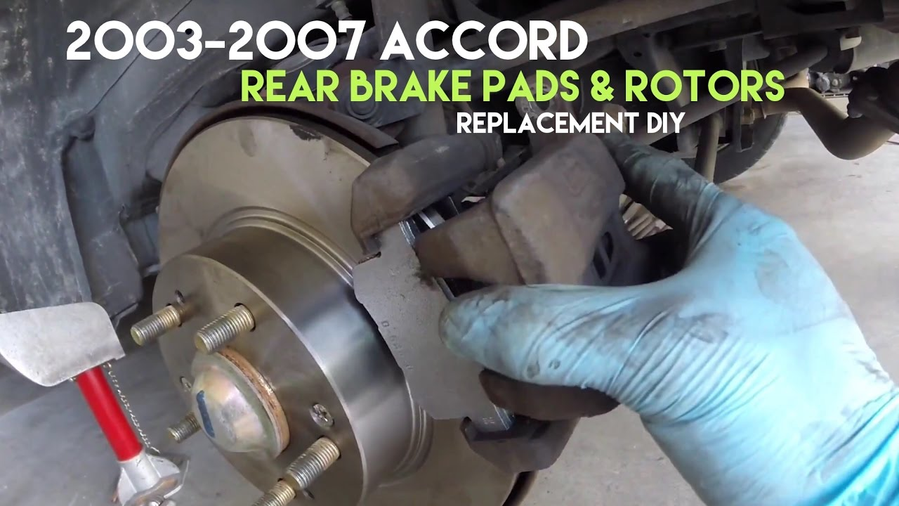 When To Replace Brake Pads >> How To Replace Accord Rear Brake Rotors Pads Removal Replacement Diy
