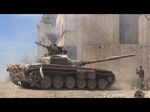 قوات النظام السوري تواصل هجومها على الغوطة الشرقية