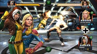 Rank 5 Rogue + Captain Marvel Synergy VS Winter Soldier (Realm Of Legends)