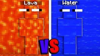 Lava vs Water Camo Prank in Minecraft Hide & Seek | JeromeASF