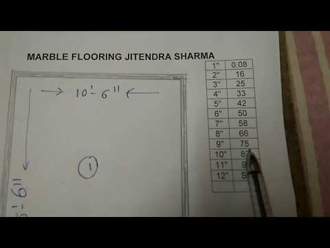 How to calculate the quality of marble flooring at home and house
