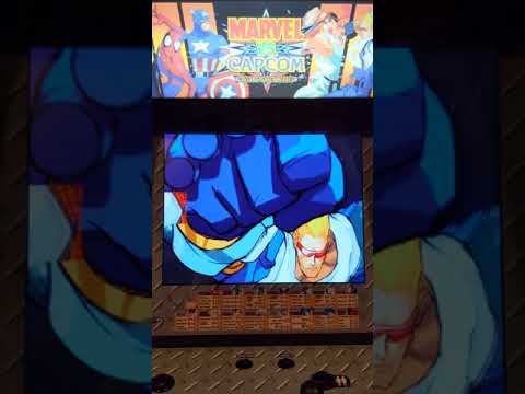 Arcade1up Marvel vs. Capcom cabinet from Malckie Rob