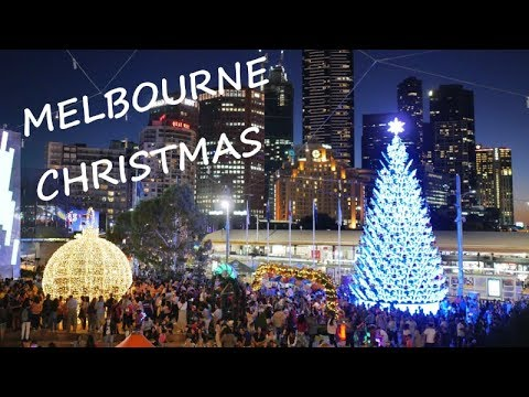 Melbourne Christmas 2018 City Centre at Federation Square 4k