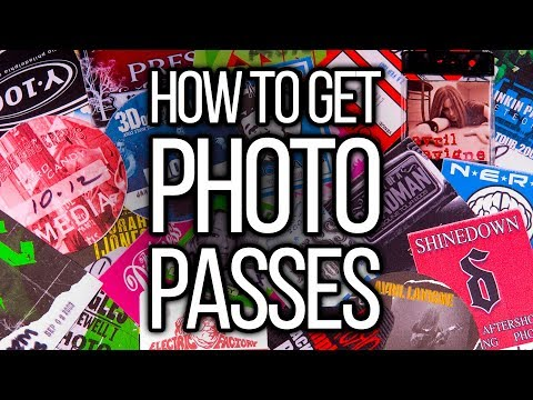 The 2 SECRETS How To Get Photo Passes To Anything