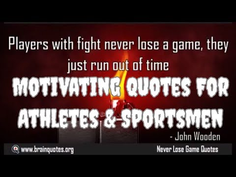 Motivational Quotes For Athletes and Sports