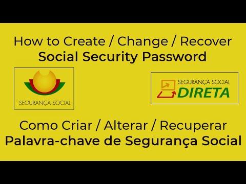 How to Create / Recover Social Security Password (palavra-chave Segurança Social)