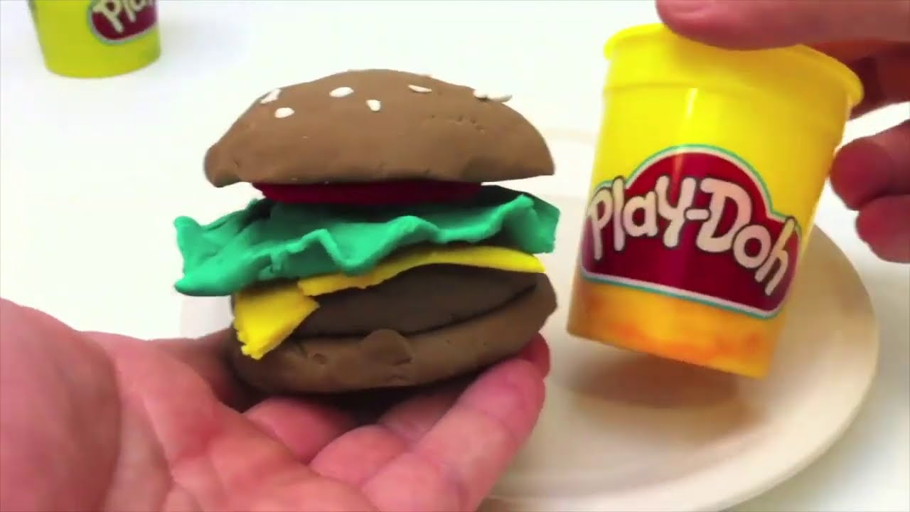 Monster & burger play doh games
