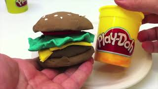 Monster \u0026 burger play doh games