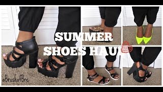 Summer Shoes Haul| Charlotte Russe, JcPenney, Traffic| aBrushofBre