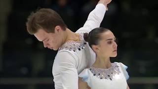 Фигурное катание ЧМ 2020 среди юниоров Спортивные пары Произвольная программа Панфиловой и Рылова