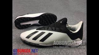 Review đôi giày đá bóng x18.3 trắng và hướng dẫn cách buộc dây giày cho x18 đẹp