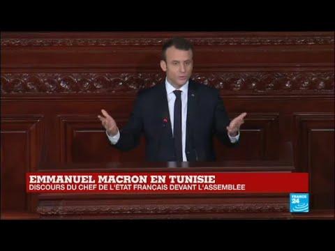 REPLAY - Le discours d'Emmanuel Macron devant l'Assemblée tunisienne