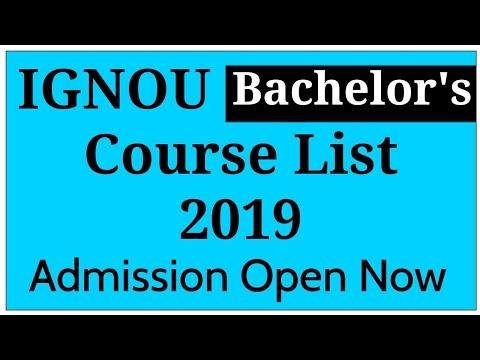 IGNOU Bachelor's Degree Courses List 2019 | Graduation Courses |