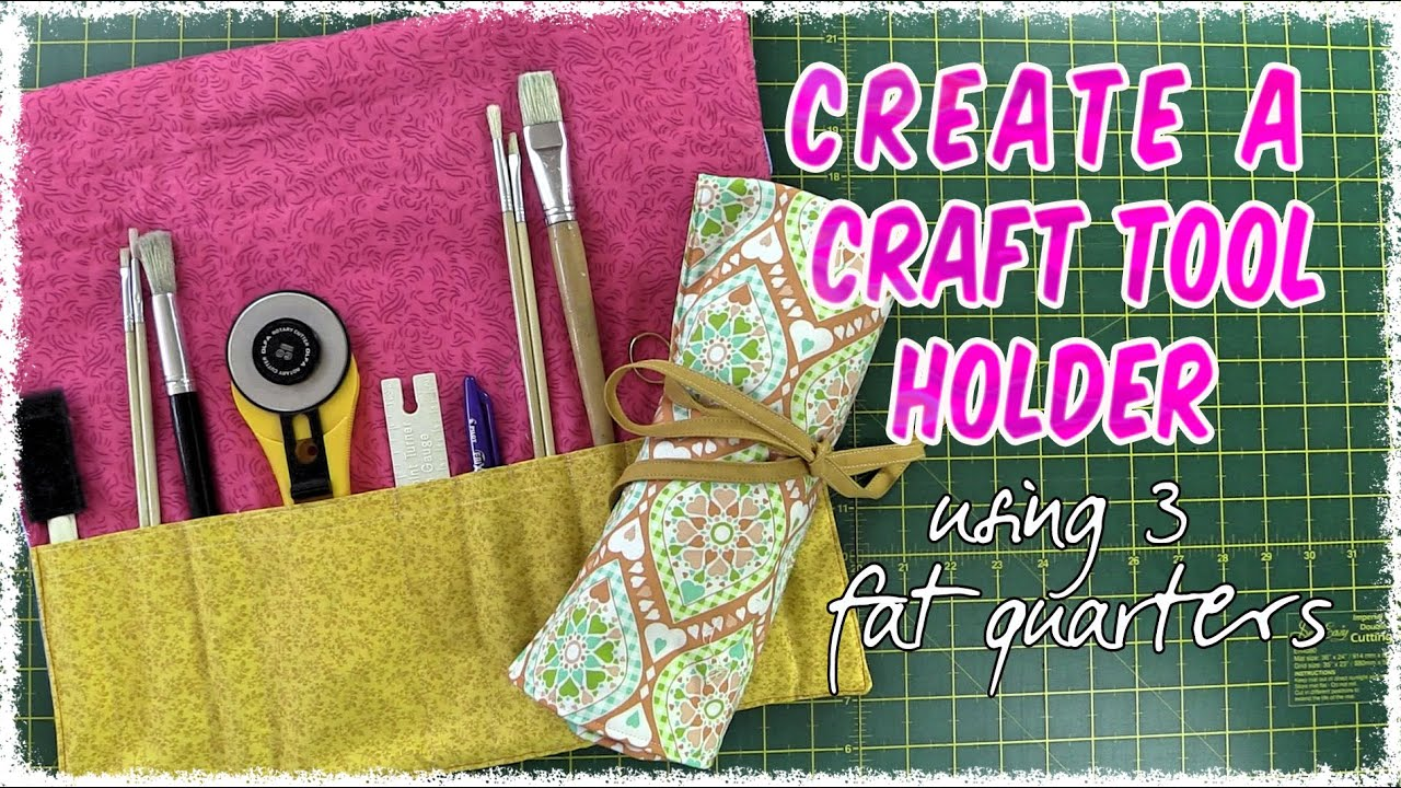 Book Cover Sewing Kits ~ Easy to make sewing tools artist brush roll up holder