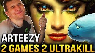 Arteezy 2 Games 2 ULTRAKILL with Medusa & Morphling Dota 2