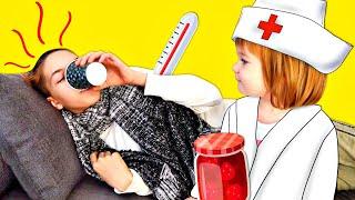 Света заболела. Бьянка и Маша Капуки готовят полезный чай - Привет, Бьянка