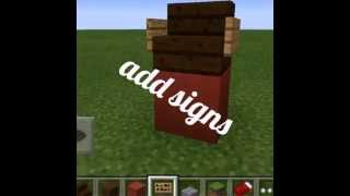 Mcpe: How To Make A Bar Stool