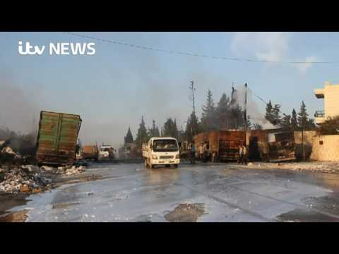 US and Russia trade claims over Syria aid convoy attack