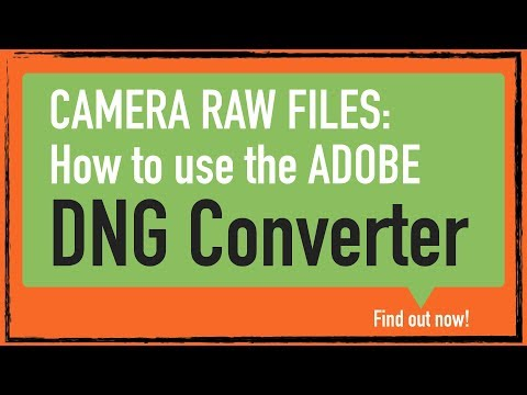 Camera Raw: How to use Adobe DNG Converter