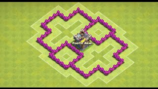 Clash Of Clans - Gem Castle (Best TH4 Farming Layout) + Anti Giant, Healer, Balloons - New 2015 HD