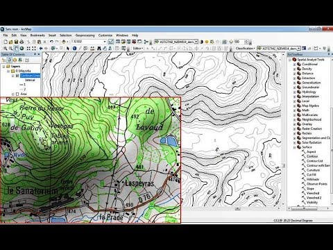 How to digitize automatic a scanned topographic map with ArcGIS
