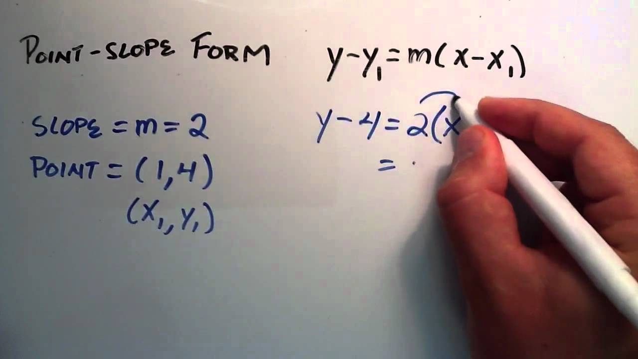 Point slope form lessons tes teach how to use the point slope form of a line how to find a line falaconquin