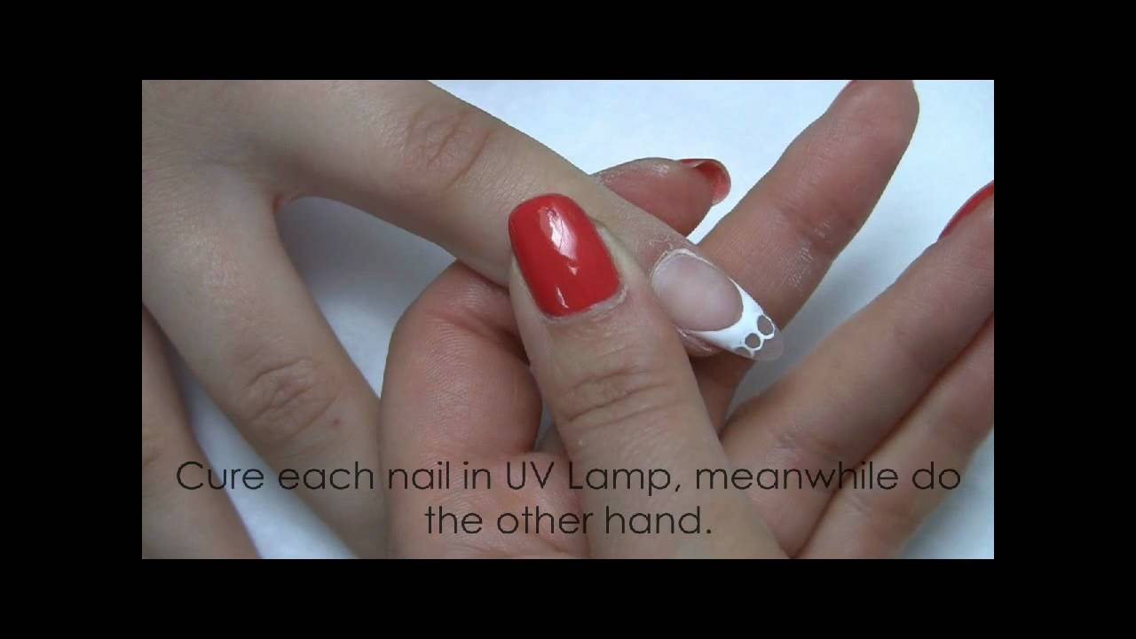 French nails with holes design, Gel Nail design, Kinetics Nails ...