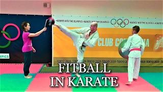 """Упражнения с фитболом в каратэ/Exercises with fitball in karate. KARATE CLUB """"SKIF"""""""