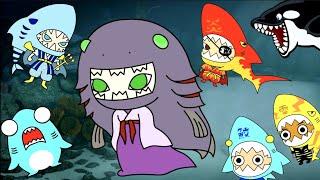 海の生き物競争!誰が一番早いサメ?ラブカとポセイドンと十二支の冒険!