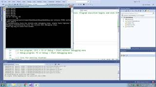 How to debug C++ program Visual Studio 2019
