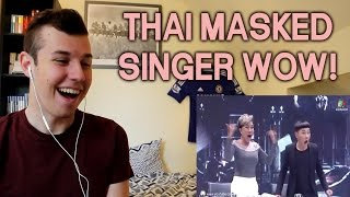 Set Fire To The Rain - Durian Masked | The Mask Singer Thailand REACTION!!!