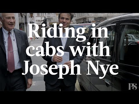 Riding in Cabs with Joseph Nye
