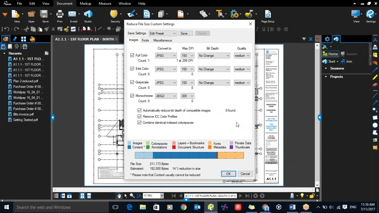 Reduce File Size – Bluebeam Revu
