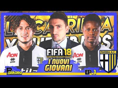 I NUOVI TALENTI VOGLIONO IL PARMA | FIFA 18 carriera allenatore YOUTUBERS #01 w/Papirus