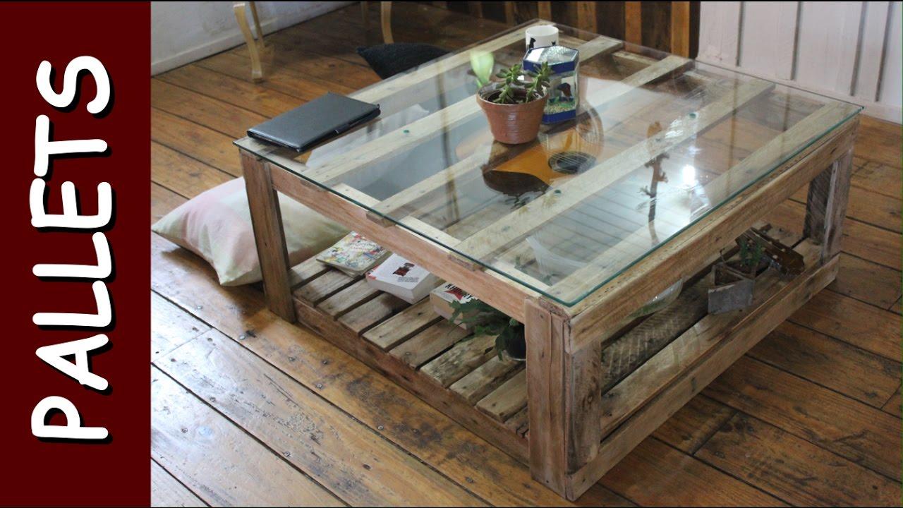 Diy mesa de centro feita com pallets pallets coffee - Mesa centro palet ...