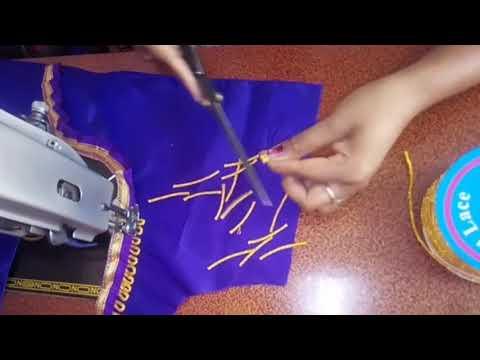 Paithani blouse back neck design cutting &/stitching easy patchwork blouse design cutting& stitching
