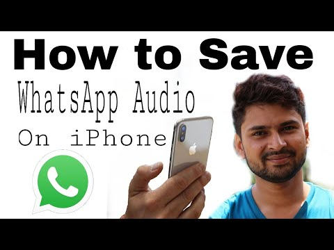 HOW TO SAVE WHATSAPP VOICE MASSAGE IN IPHONE | SAVE WHATSAPP AUDIO FILE IN IPHONE IOS 10 iPhone 7