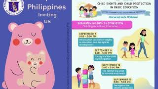 DepEd Webinars (Sep 2020): Child Rights and Child Protection in Basic Education
