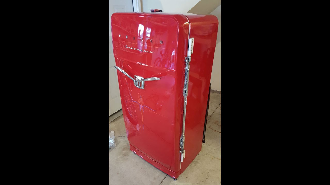 Philco V Handle Refrigerator Refurbish Video 1 Youtube