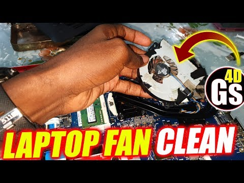 How to Clean Laptop FAN Easily : HP  ENVY 17 - Part 2