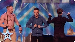 BGT extra: Ant and Dec cop a feel of strongman Daniel