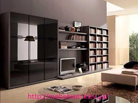 Современные мебельные горки, стенки