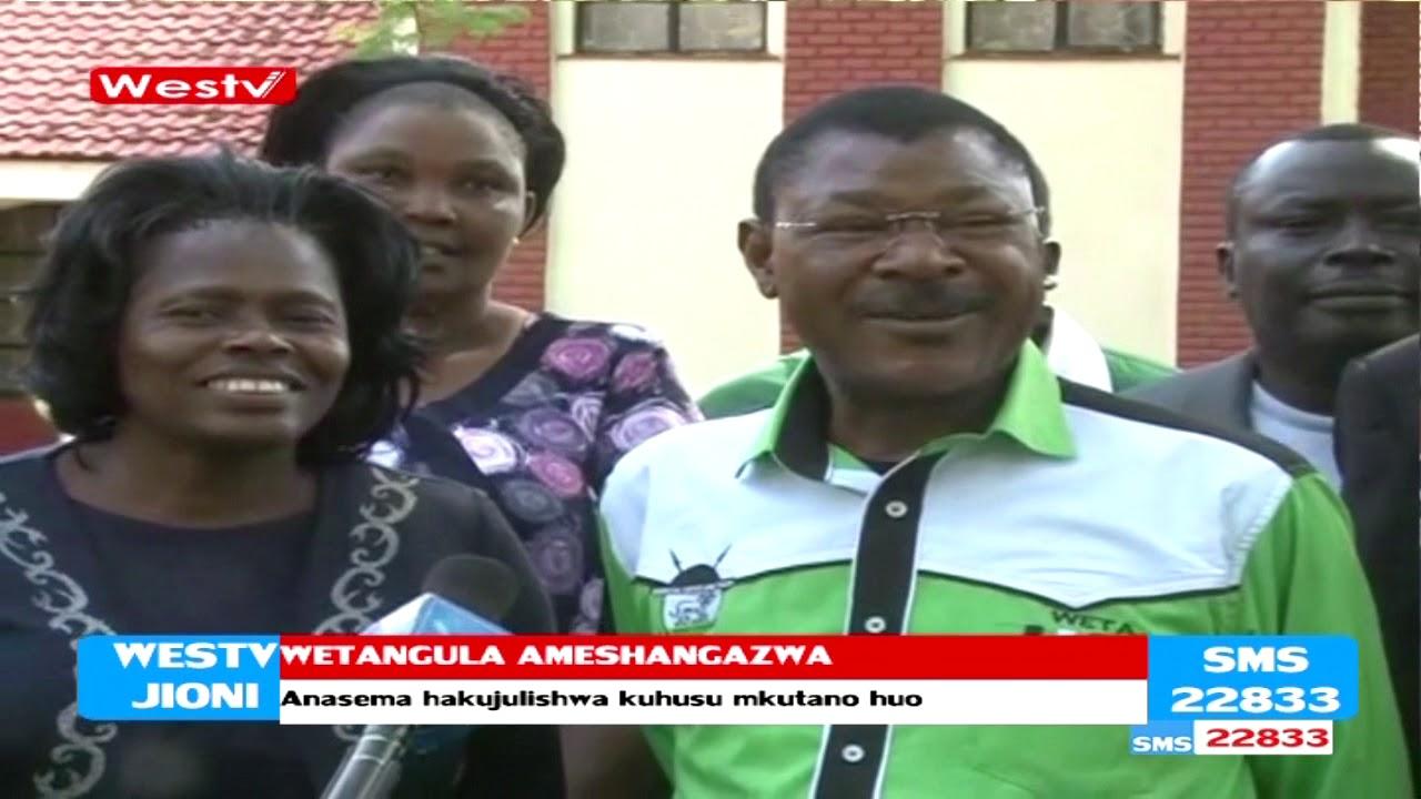 Seneta wa Bungoma Moses Wetangula akiri kushangazwa na mkutano wa Rais Kenyatta na Raila