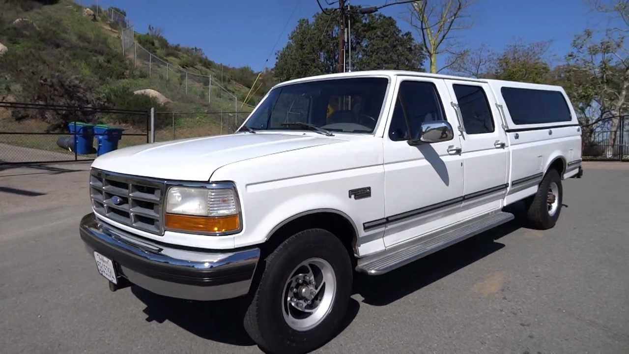 1989 Ford F250 Diesel 1995 Ford F350 XLT Crew Cab Long Bed 7.5L 460 V8 1 Ton 1 ...
