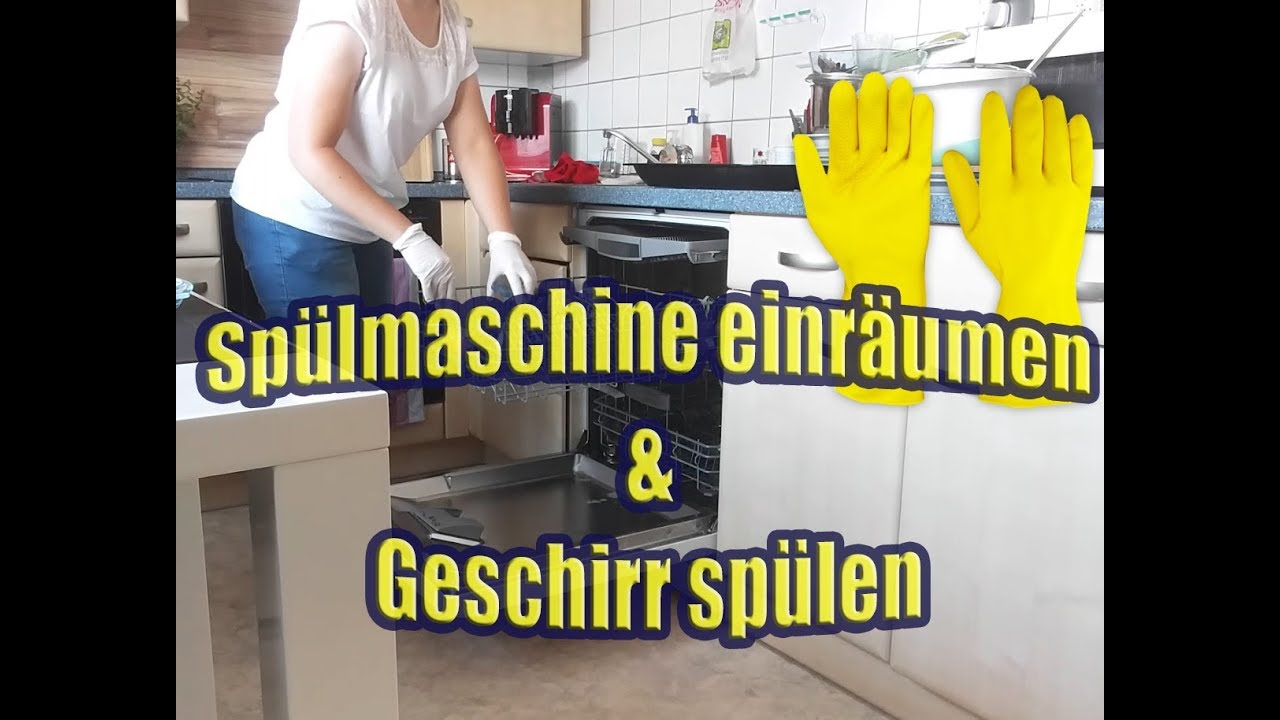 Spulmaschine Einraumen Geschirr Von Hand Spulen Kuche