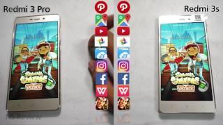 Xiaomi Redmi 3s vs Xiaomi Redmi 3 pro speed test review